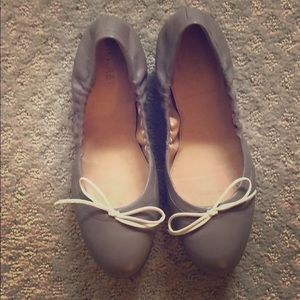 J. Crew Emma Bow Ballet Flats in Gray